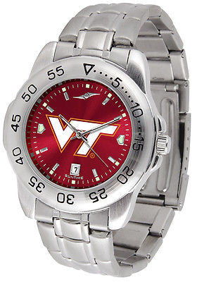 Virginia Tech Men's Stainless Steel Sports AnoChrome Watch