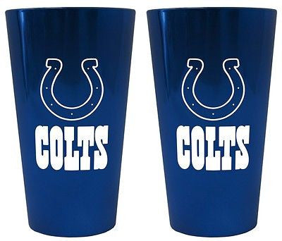 Indianapolis Colts Lusterware Glass Set