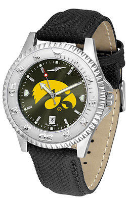 Iowa Hawkeyes Men's Competitor AnoChrome Leather Band Watch