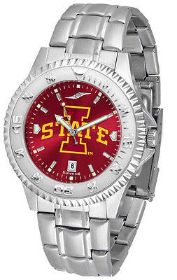 Iowa State Cyclones Men's Competitor Stainless Steel AnoChrome Watch