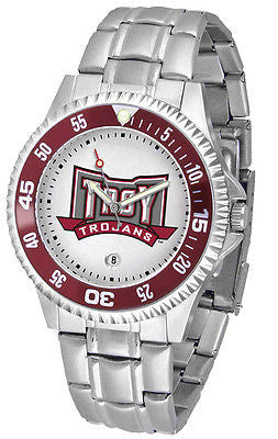 Troy University Men's Competitor Stainless Steel AnoChrome with Color Bezel