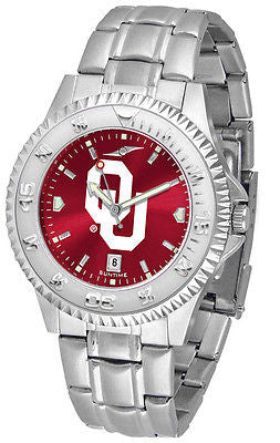 Oklahoma Sooners Men's Competitor Stainless Steel AnoChrome Watch