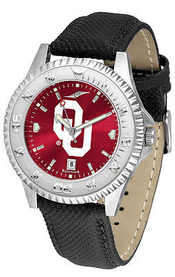 Oklahoma Sooners Men's Competitor AnoChrome Leather Band Watch
