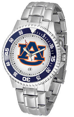Auburn Tigers Men's Competitor Stainless Steel AnoChrome with Color Bezel Watch