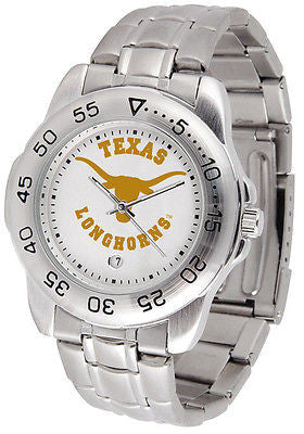Texas Longhorns Men's Sports Stainless Steel Watch
