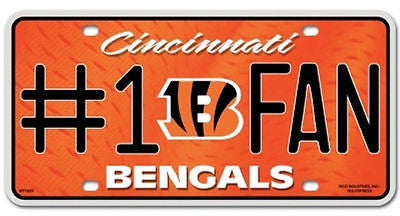 Cincinnati Bengals Metal Car Tag
