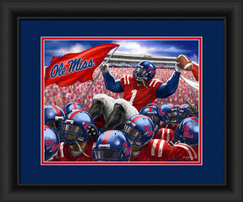Mississippi Ole Miss Rebels Celebration Print Wall Art