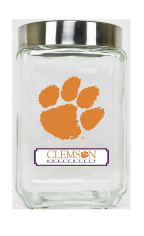 Clemson Tigers Glass Canister Set of 2