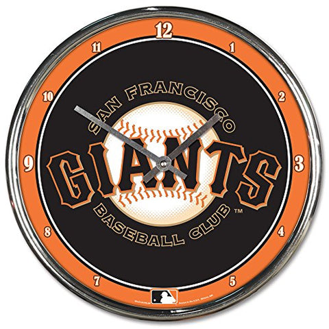 San Francisco Giants Chrome Wall Clock