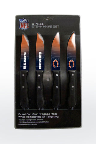 Chicago Bears 4 Piece Knife Set