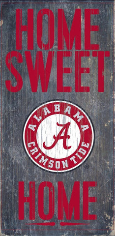 Alabama Crimson Tide Home Sweet Home Wood Wall Sign