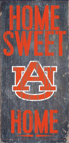 Auburn Tigers Home Sweet Home Wood Sign