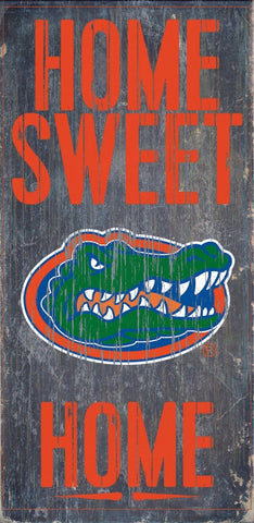 Florida Gators Home Sweet Home Wood Wall Sign