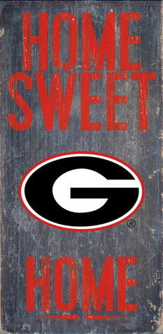 Georgia Bulldogs Home Sweet Home Wood Wall Sign