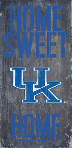 Kentucky Wildcats Home Sweet Home Wood Wall Sign