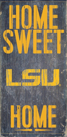 LSU Tigers Home Sweet Home Wood Wall Sign