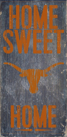 Texas Longhorns Home Sweet Home Wood Wall Sign