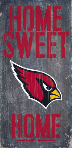 Arizona Cardinals Home Sweet Home Wood Wall Sign