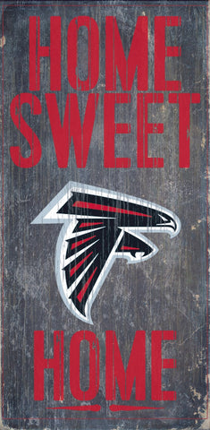 Atlanta Falcons Home Sweet Home Wood Wall Sign