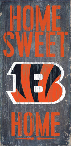 Cincinnati Bengals Home Sweet Home Wood Wall Sign