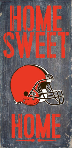 Cleveland Browns Home Sweet Home Wood Wall Sign