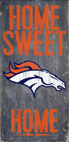 Denver Broncos Home Sweet Home Wood Wall Sign