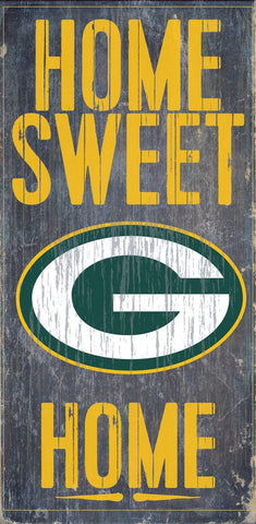Green Bay Packers Home Sweet Home Wall Sign