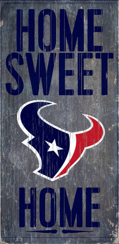 Houston Texans Home Sweet Home Wood Wall Sign