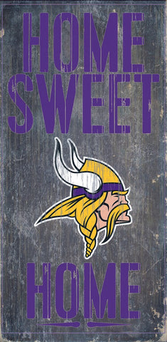 Minnesota Vikings Home Sweet Home Wood Sign