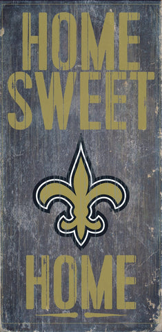 New Orleans Saints Home Sweet Home Wood Wall Sign