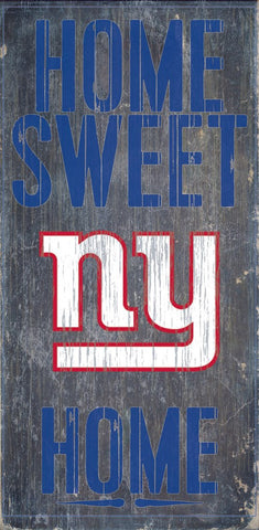 New York Giants Home Sweet Home Wood Sign