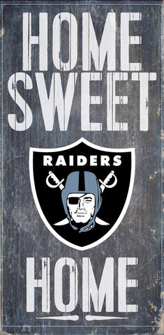 Oakland Raiders Home Sweet Home Wood Wall Sign