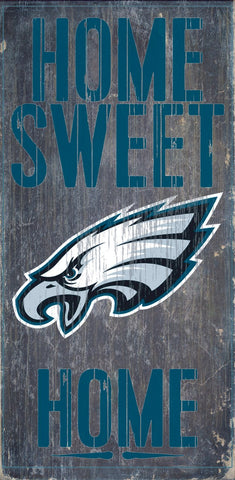 Philadelphia Eagles Home Sweet Home Wood Wall Sign