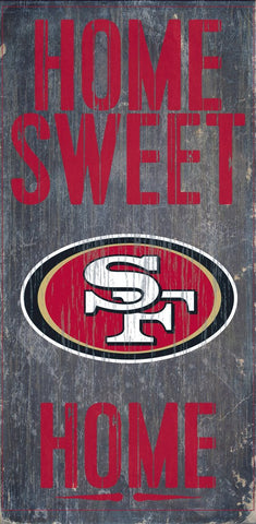 San Francisco 49ers Home Sweet Home Wood Wall Sign