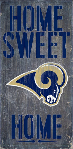 Los Angeles Rams Home Sweet Home Wood Wall Sign