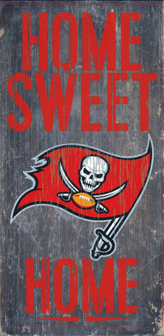 Tampa Bay Buccaneers Home Sweet Home Wood Wall Sign