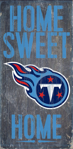 Tennessee Titans Home Sweet Home Wood Wall Sign