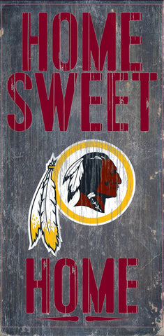 Washington Redskins Home Sweet Home Wood Wall Sign