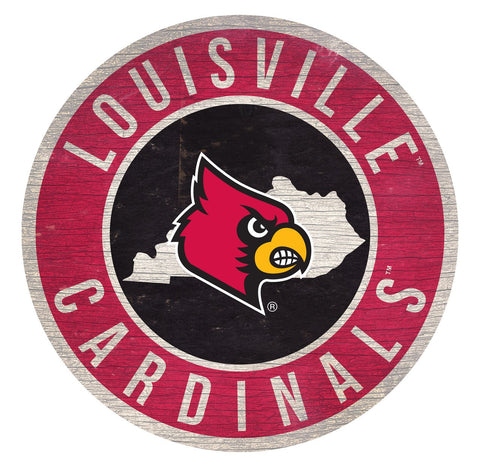 "Louisville Cardinals 12"" Wooden Wall Sign"