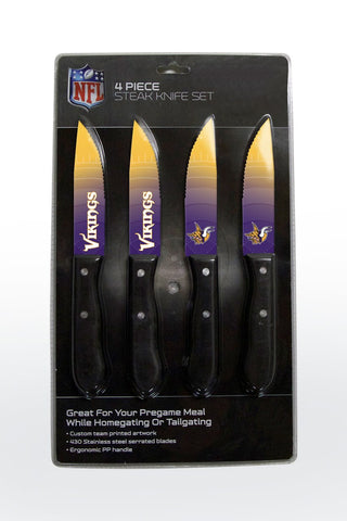 Minnesota Vikings 4 Piece Stake Knife Set