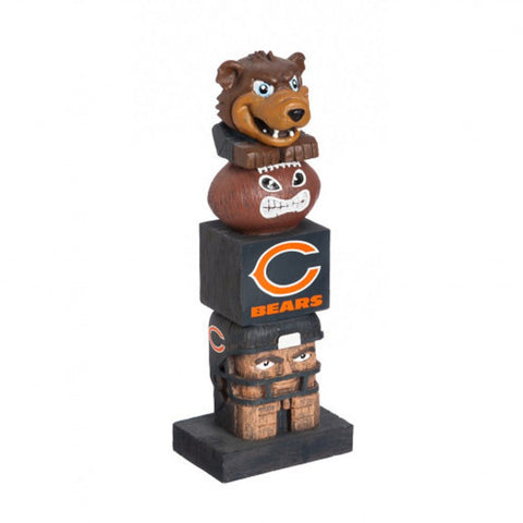 Chicago Bears Tiki Totem Pole