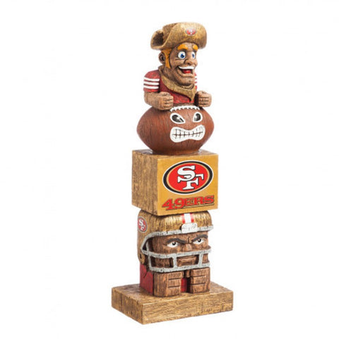 San Francisco 49ers Tiki Totem Pole