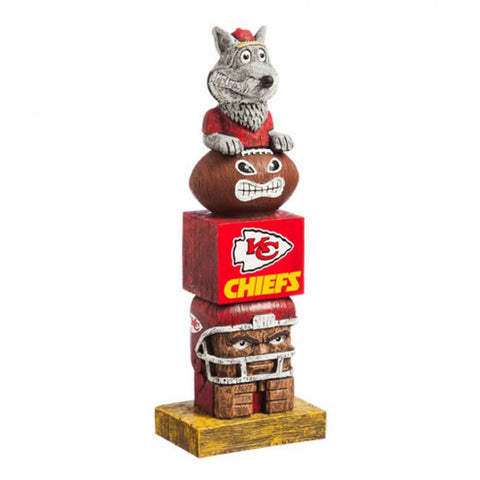 Kansas City Chiefs Tiki Totem Pole