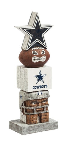 Dallas Cowboys Tiki Totem Pole