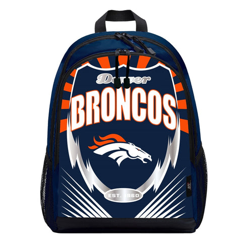 Denver Broncos Lightning Graphics Backpack