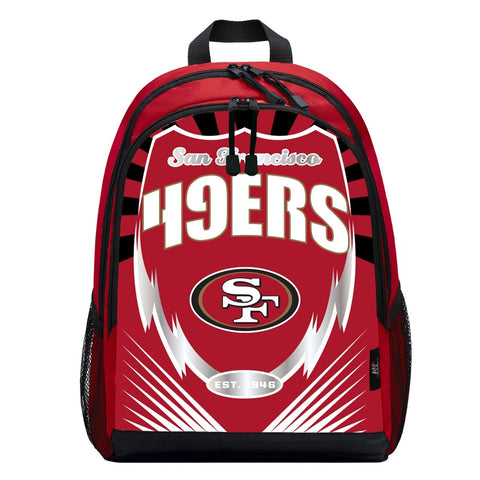 San Francisco 49ers Lightning Graphics Backpack