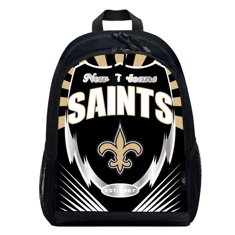 New Orleans Saints Lightning Graphics Backpack