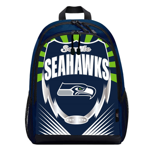 Seattle Seahawks Lightning Graphics Backpack