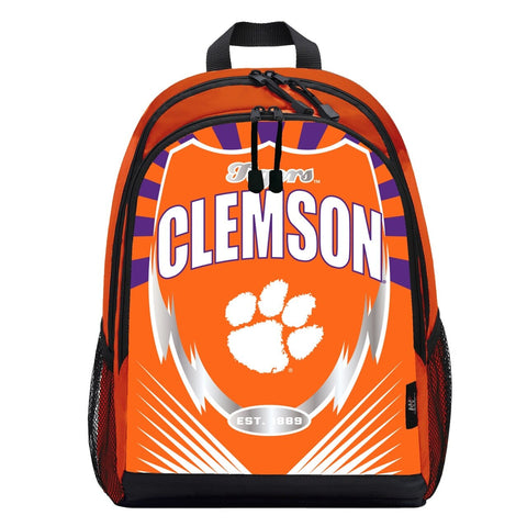 Clemson Tigers Lightning Graphics Backpack