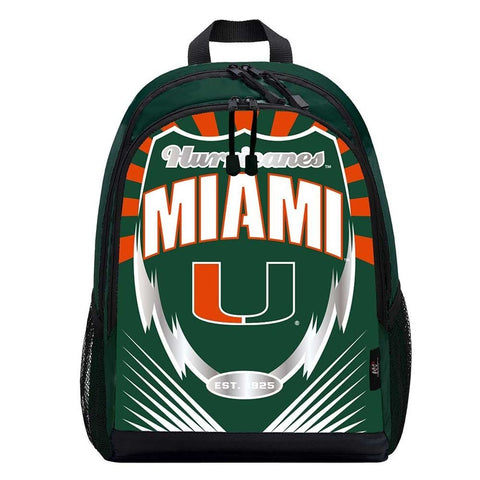 Miami Hurricanes Lightning Graphics Backpack